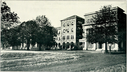 Front View of the Dormitory from 1913 Digitized Technala